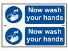 Scan Now Wash Your Hands - PVC 300 x 200mm